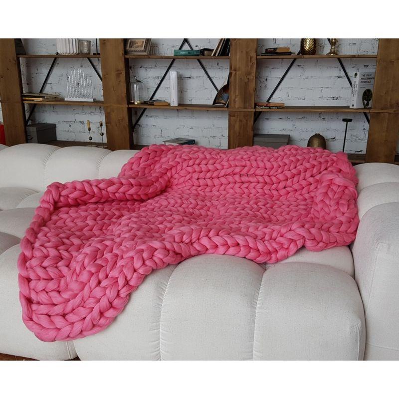 plaid tricot geant couverture grosse maille douce plaid xxl tendances dco diy adopter chez vous. Black Bedroom Furniture Sets. Home Design Ideas