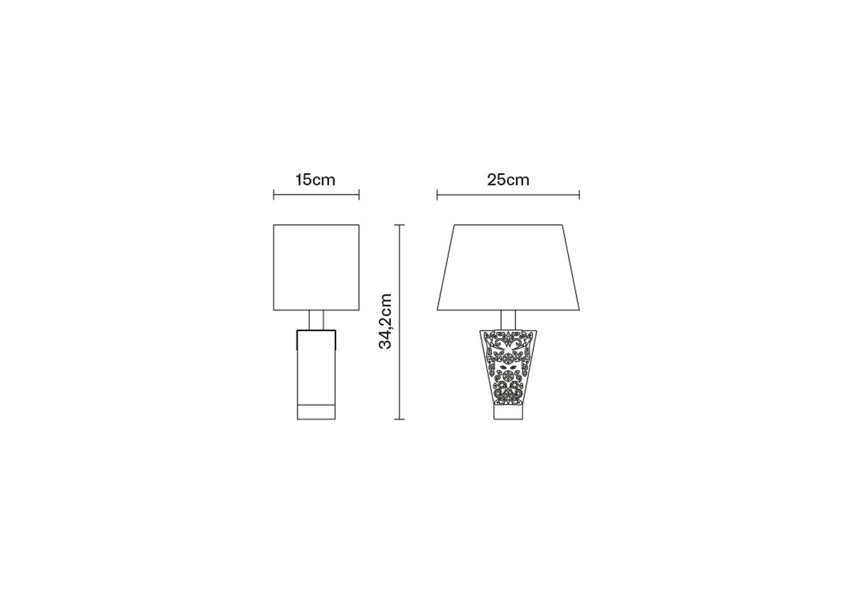 LAMPE DE TABLE VICKY