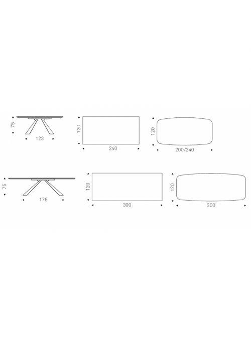 TABLE ELIOT KERAMIK