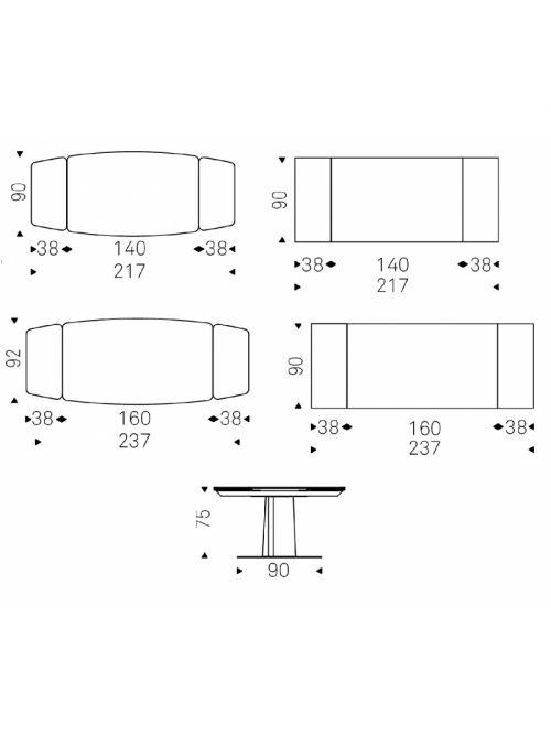 TABLE EXTENSIBLE DUFFY KERAMIX DRIVE