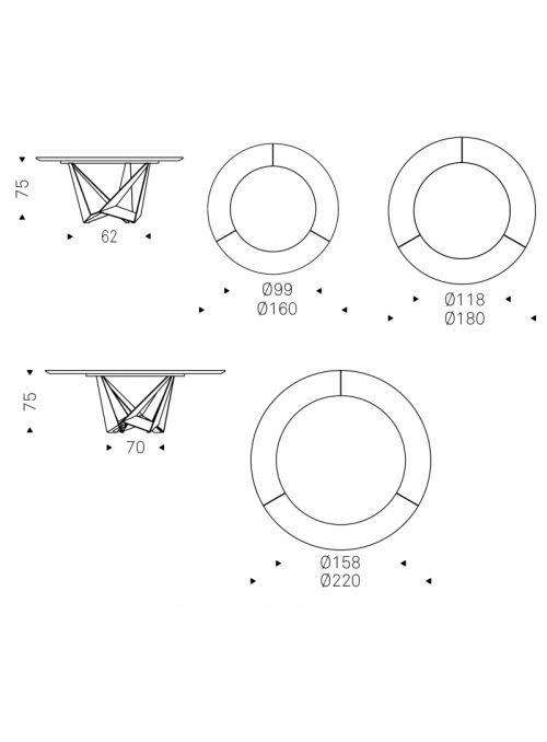 TABLE SKORPIO KER-WOOD ROUND