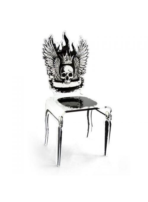 CHAISE LET'S ROCK TETE DE MORT