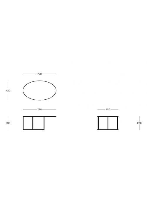 TABLE BASSE SLIM IRONY OVAL