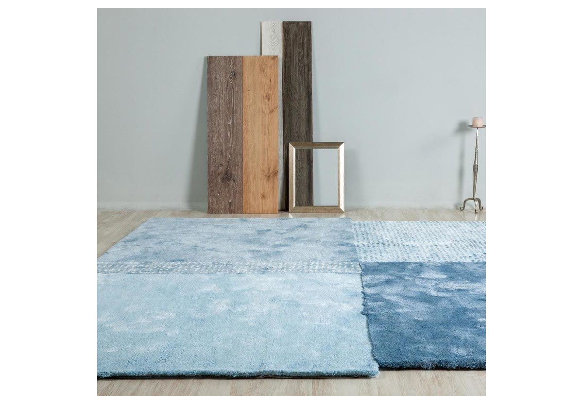 TAPIS OVER BLEU CARRE